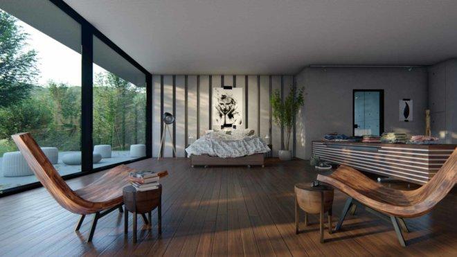 bedroom wooden theme
