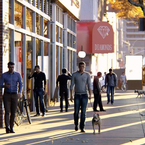streetside w dog